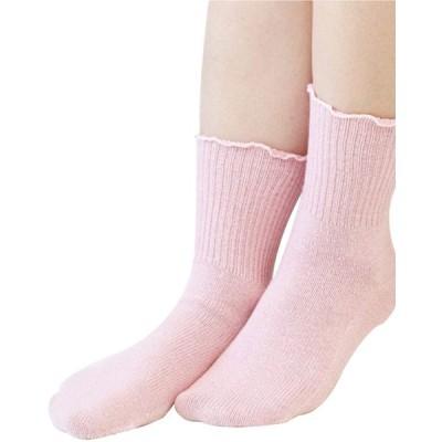 【絹屋】 締め付けない靴下 22.5-24.5cm 桜色
