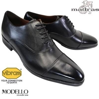 マドラス MADRAS モデロ MODELLO DM5121 ブラック メンズ ビジネスシューズ ドレスシューズ 紳士靴 黒靴 革靴 紐靴 冠婚葬祭 DM-5121