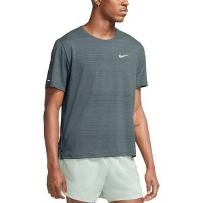 ナイキ メンズ Tシャツ トップス Nike Men's Dri-FIT Miler T-Shirt Hasta/Reflective Silv