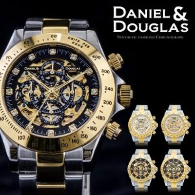 ダニエルダグラス DANIEL&DOUGLAS 腕時計 メンズ DD8802-GP  自動巻き オートマチック スケルトン ゴールド