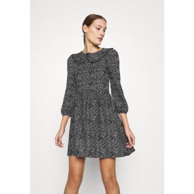 ドロシーパーキンス レディース ファッション COLLAR FIT AND FLARE - Day dress - black