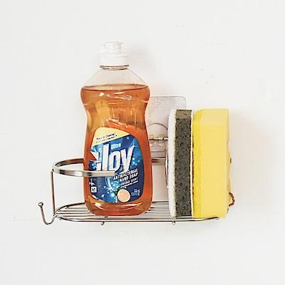 完美主義 瓶罐架/洗碗精架/菜瓜布架/304不鏽鋼/霧面無膠貼