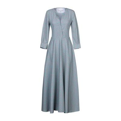 LE SARTE PETTEGOLE ロングワンピース&ドレス グリーン 40 コットン 100% ロングワンピース&ドレス
