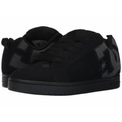 DC ディーシー メンズ 男性用 シューズ 靴 スニーカー 運動靴 Court Graffik SE Black Destroy Wash【送料無料】