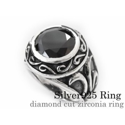 ダイアモンドカットジルコニアリング メンズ 指輪 メンズ シルバー925 アクセサリー bar-1118