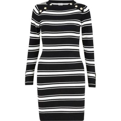 ユミ Yumi レディース ボディコンドレス ワンピース・ドレス Black Stripe Bodycon Dress Black