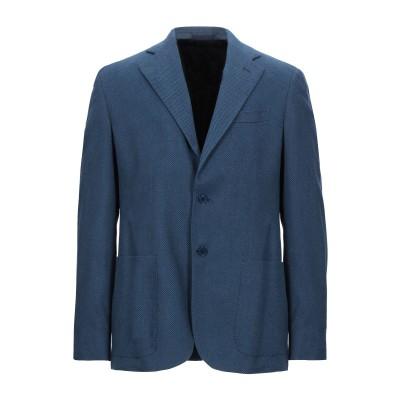 ANGELO NARDELLI テーラードジャケット ブルー 54 コットン 100% テーラードジャケット