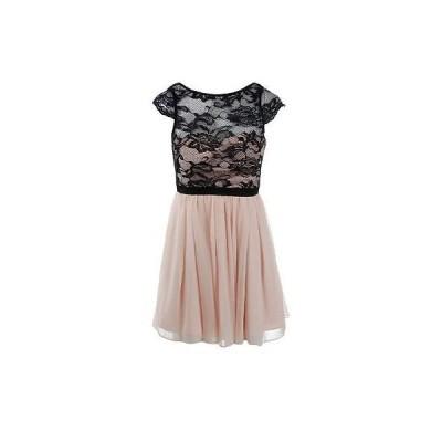 ドレス ワンピース Aqua アクア 4882 レディース ブラック シルク Lace Overlay ミニ Party ドレス 8 BHFO