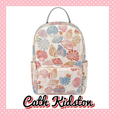 Cath Kidston キャスキッドソン 貝殻 バックパック 白系 レディース