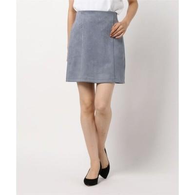 スカート スエードポンチ台形/スカート