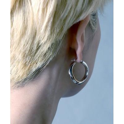 【メゾンムー】 silver925 distortion circle pierce/歪みピアス シルバー925 ユニセックス シルバー FREE MAISON mou