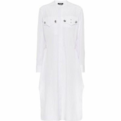 カルバンクライン Calvin Klein 205W39NYC レディース ワンピース シャツワンピース ワンピース・ドレス Striped cotton shirt dress Whi