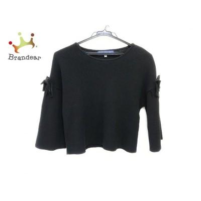 エムズグレイシー M'S GRACY セーター サイズ38 M レディース 新品同様 黒 リボン   スペシャル特価 20210219