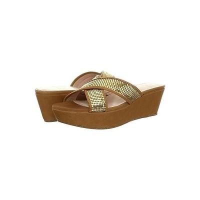 スチュアートワイツマン ヒール 靴 Stuart Weitzman 2554 レディース Extrovert ゴールド ウエッジs サンダル 9 ミディアム (B,M) BHFO