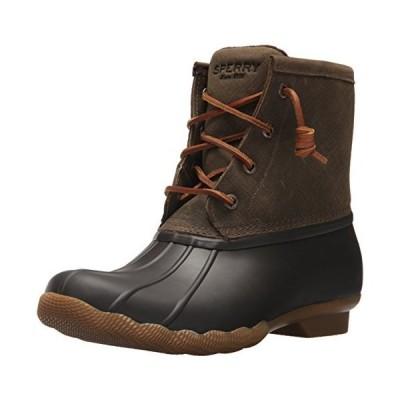 Sperry TopSider Women's Saltwater Rain Boot, Brown/Olive, 6 M US