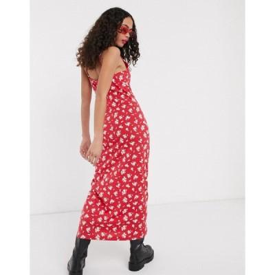 ノイジーメイ レディース ワンピース トップス Noisy May cami maxi dress in floral ditsy print Multi