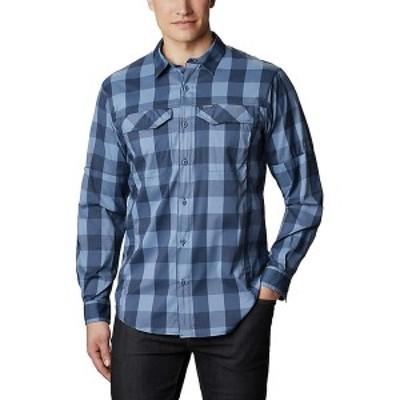 (取寄)コロンビア メンズ シルバー リッジ ライト プレイド ロングスリーブ シャツ Columbia Men's Silver Ridge Lite Plaid LS Shirt Bl
