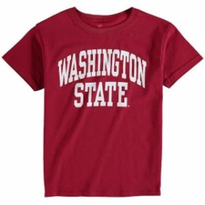 Fanatics Branded ファナティクス ブランド スポーツ用品  Fanatics Branded Washington State Cougars Youth Cardinal Basic Arch T-Shi