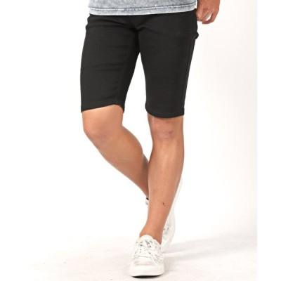 【ラグスタイル】 5ポケットショートパンツ/ショートパンツ メンズ デニム ハーフパンツ メンズ ブラック M LUXSTYLE