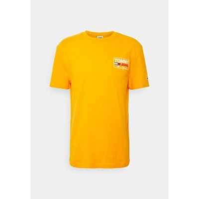 トミーヒルフィガー Tシャツ メンズ トップス SCRIPT BOX BACK LOGO TEE UNISEX - Print T-shirt - florida orange