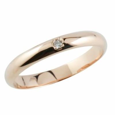 婚約指輪 18金 シンプル ダイヤモンド リング ピンクゴールドk18 エンゲージリング 一粒 ストレート プレゼント 送料無料 レディース