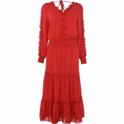 ビバ Biba レディース ワンピース ワンピース・ドレス Frill Tier Dress Red