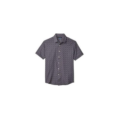 Vince Camuto Short Sleeve Sport Shirt メンズ シャツ トップス Purple Butterfly Sport Shirt