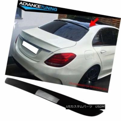 フィット15-17 CクラスW205セダンファクトリールーフスポイラーOEM塗装カラー#040ブラック