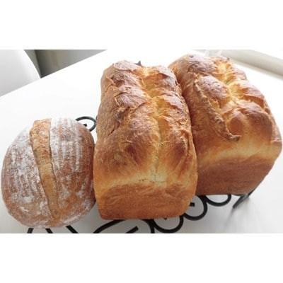 パン工房ル・カルフール 高級食パン「Le carrefour」2本と天然酵母パン1個