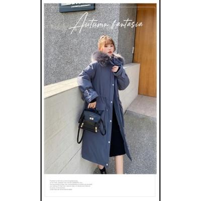 秋冬 ふわふわ ボリュームファー ロング丈 モッズコート3カラー 大きいサイズ レディース オーバーサイズ ストリート 秋冬 ブルー ブラック ホワイト