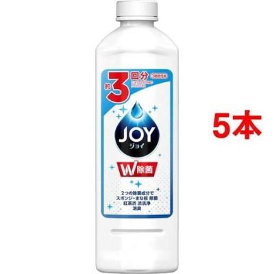 除菌ジョイ コンパクト 食器用洗剤 詰め替え (400ml*5本セット)