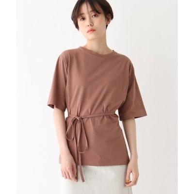 tシャツ Tシャツ 天竺五分袖ラップ風プルオーバー