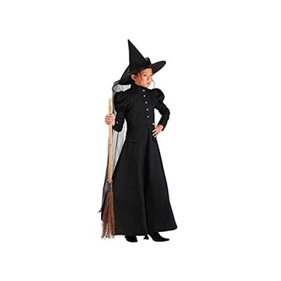Child Full Length Witch Costume Kid's Deluxe Wicked Witch Costume Medium