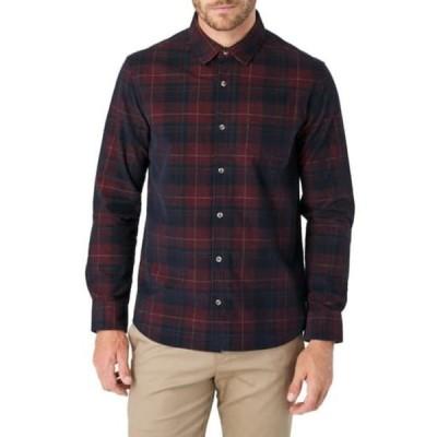 セブンダイヤモンド メンズ シャツ トップス Convoy Plaid Slim Fit Shirt RICH BERRY
