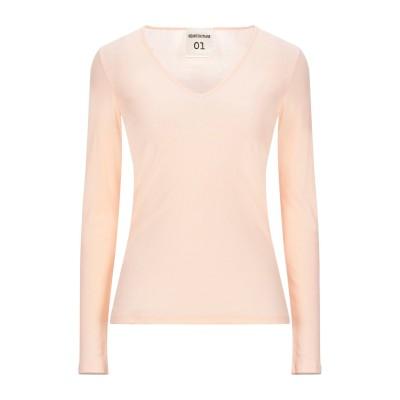 セミクチュール SEMICOUTURE T シャツ ライトピンク S コットン 100% T シャツ