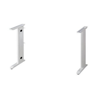 アール・エフ・ヤマカワ スチール脚デスク 共通脚 ホワイト RFSLD−WH−L 1台