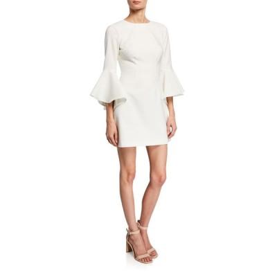 ライクリー レディース ワンピース トップス Mallory Crewneck Flounce-Sleeve Mini Dress