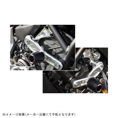 [342-274-019BX] アグラス Rスライダー サブフレームφ50黒ロゴ MT-07 エンジンハンガーSet