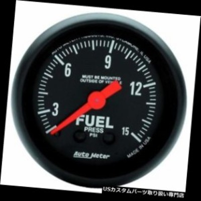 タコメーター オートメーター2603 ZシリーズのMech燃料圧力計、15 PSI、2-1 / 16インチ  Auto Met