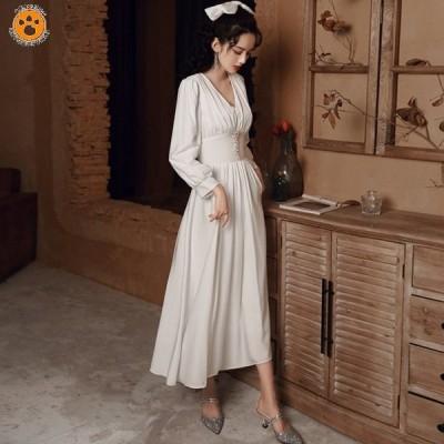 ウェディングドレス ドレス パーティドレス 花嫁ドレス お呼ばれ ロングドレス イブニングドレス 花嫁 誕生日 着痩せ プリンセス