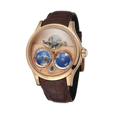 FORSINING メンズ ブランド 自動ムーブメント ステンレススチールケース 世界地図文字盤 腕時計 FSG9413M3R3