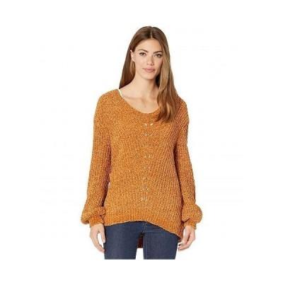 Wrangler ラングラー レディース 女性用 ファッション セーター Long Sleeve Chenille Sweater - Orange