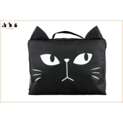 【猫雑貨】収納バッグ【M】【クロネコ】【黒猫】【ポーチ】【小物入れ】【ケース】【トラベル】【バッグ】【ストレージバッグ】【ネコ】