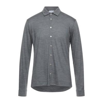 ボリオリ BOGLIOLI シャツ 鉛色 L ウール 100% シャツ