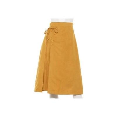 【Rewde】起毛素材サイドプリーツスカート(9R10-094122) (イエロー)