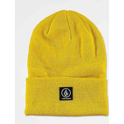 ボルコム VOLCOM メンズ ニット ビーニー 帽子 Volcom Box Stone Sulphur Yellow Beanie Yellow
