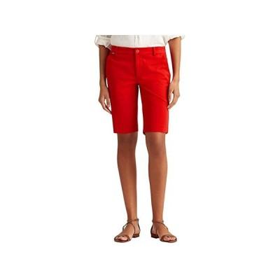 LAUREN Ralph Lauren Petite Bi-Stretch Twill Shorts レディース ショートパンツ ズボン 半ズボン Orient Red
