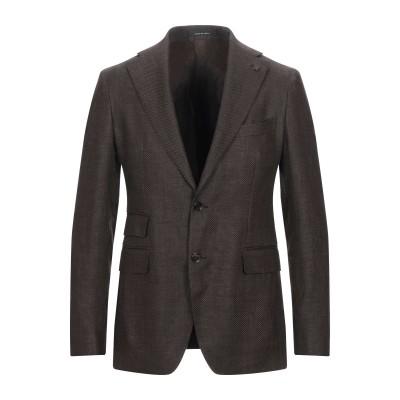 タリアトーレ TAGLIATORE テーラードジャケット ココア 46 リネン 57% / スーパー100 ウール 43% テーラードジャケット