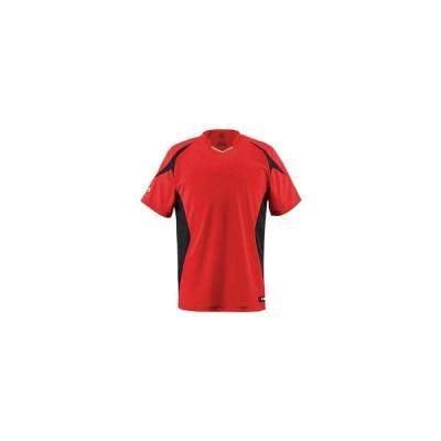 デサント(DESCENTE) ベースボールシャツ レッド JDB116-RED 野球 トレーニングウェアー