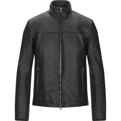 スチュアート STEWART メンズ レザージャケット アウター leather jacket Dark brown